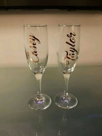 Custom champagne glasses  Mississauga, L5L 3A2