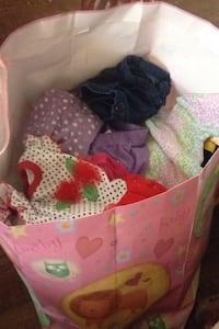 Baby girl clothes ranging from 0-3 up to 3-9 months and faded brown recliner just make an offer