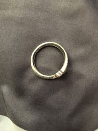 silver-colored diamond ring Sterling, 20164
