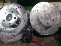Brand new Performance brake rotors and pads