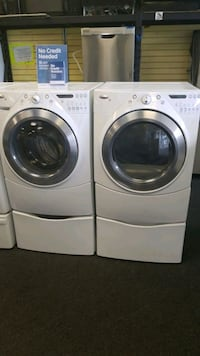 white front load washing machine and dryer set Randallstown