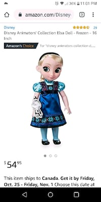 Disney Collector's Animator's Elsa doll New In Box Surrey, V3S