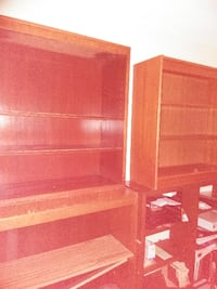 Wood Bookcases $30 each. 2336 mi