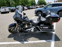 black and gray touring motorcycle Clinton