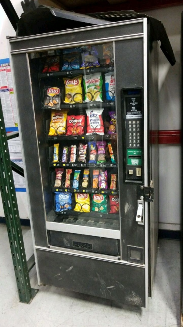 As is blowout sale firm price snack vending machin