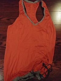 Lulu gym yoga top size 6 orange/grey Toronto, M5J 2V7