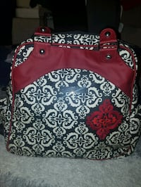 Petunia pickle bottom red and black diaper bag  Washington