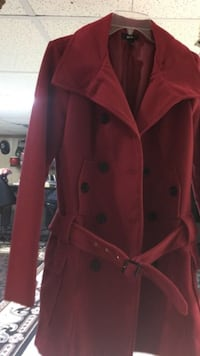 Woman's red coat size S-M