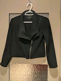 Black thick sweater jacket size small hardly worn