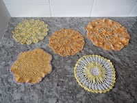 Bright Coloured Doilies all for $10 PU Morinville