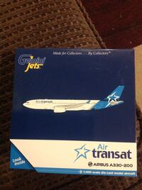 Air Transat New livery Scale 1:400 Diecast air craft model Gemini jets Surrey, V3R 5V7