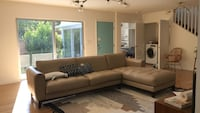 Tufted brown leather sectional sofa Pasadena, 91105