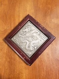 "Vintage pewter wall hanging 6""-6"""