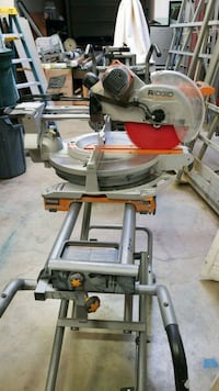 gray and red Ridgid miter saw Vancouver, 98682