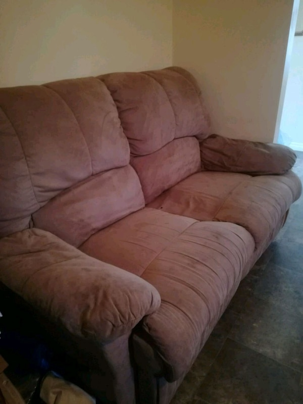 Suade, Reclining Love Seat and Sofa