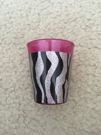 Pink Zebra Stripes Shot Glass