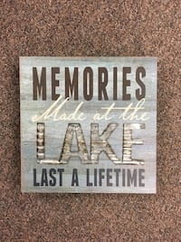 """Lake 8x8x1.5"""" table block sign Barrie, L4N 5S6"""
