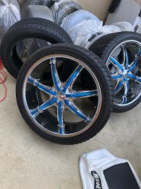24in rims and tires brand new if you want just tires lmk Brandywine, 20613