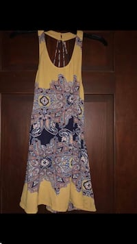 brown and black floral sleeveless dress Winfield, 25213