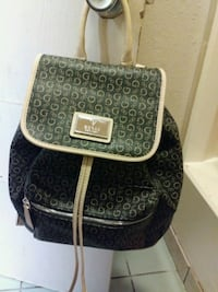 black and gray monogram Coach leather backpack Oklahoma City, 73118