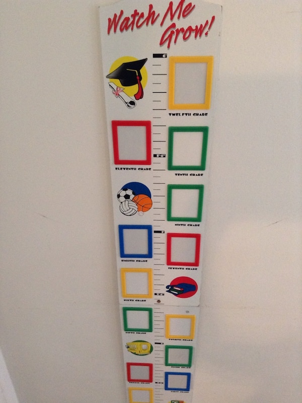 Used Watch Me Grow Measuring Plaque And Picture Frame For Sale In