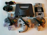 Nintendo 64 with 3 Controllers and 3 Games Mississauga, L4Z 0A5