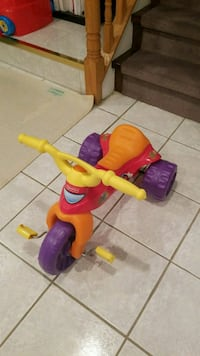 toddler's red and multicolored Fisher-Price pedal trike Toronto, M2J 1Y2