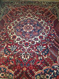 Antique Authentic Hand-Woven Persian Rug from the Bakhtiari Mountians