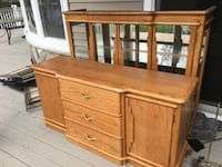 Wood Hutch Set - Good Condition