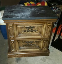 brown and black wooden side table Tullahoma, 37388
