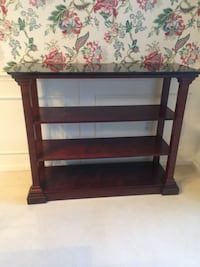 Wood console/entry table with black quartz top Palmetto Bay, 33157