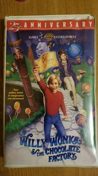 Willy Wonka and The Chocolate Factory 25th Anniversary DVD case Lawton, 73505