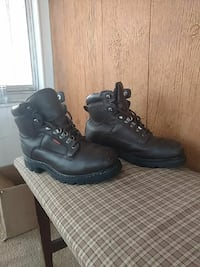 pair of black leather work boots Lansing, 48912