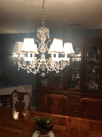 Crystal chandelier and 2 matching wall crystal sconces Oakhurst, 07755