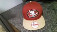 red and white San Francisco 49ers fitted cap Regina, S4T 3M6