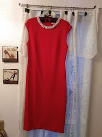 Red, pearl trimmed neck line dress for special occ San Leandro, 94578