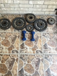 blue and black barbell plates Brownsville, 78521