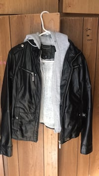 black leather zip-up jacket Concord, 94518