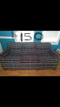 brown and black plaid 3-seat sofa Manassas