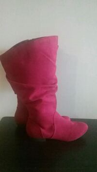 red suede knee high boots Rome, 30165