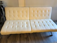 Sofa Bed, Modern Convertible Couch With Chrome Legs null