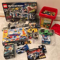 Big lego lot full of lego racers toys cars tracks Burtonsville, 20866