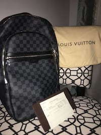 damier graphite Louis Vuitton leather backpack