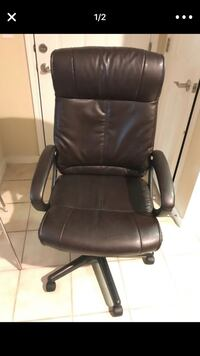 black leather office rolling armchair Annapolis, 21401