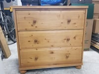 brown wooden 3-drawer chest Toronto