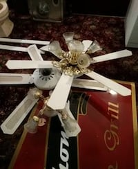 white 5 bladed ceiling fan South Amboy, 08879