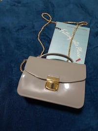 468fc0740998 Used Grey patent leather crossbody bag for sale in Taytay - letgo