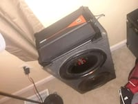 black and gray subwoofer speaker Woodbridge, 22193