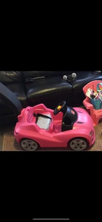 toddler's pink and white ride on toy car North Dartmouth, 02747