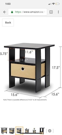 Furinno end table/night stand (set of 2) Mississauga, L5M 3P5